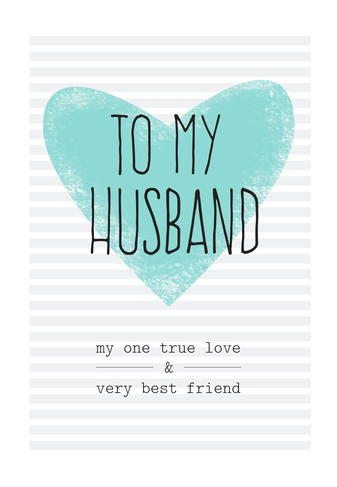 Free Printable Husband Greeting Card | Diy | Happy Birthday Husband - Free Printable Greeting Card Sentiments