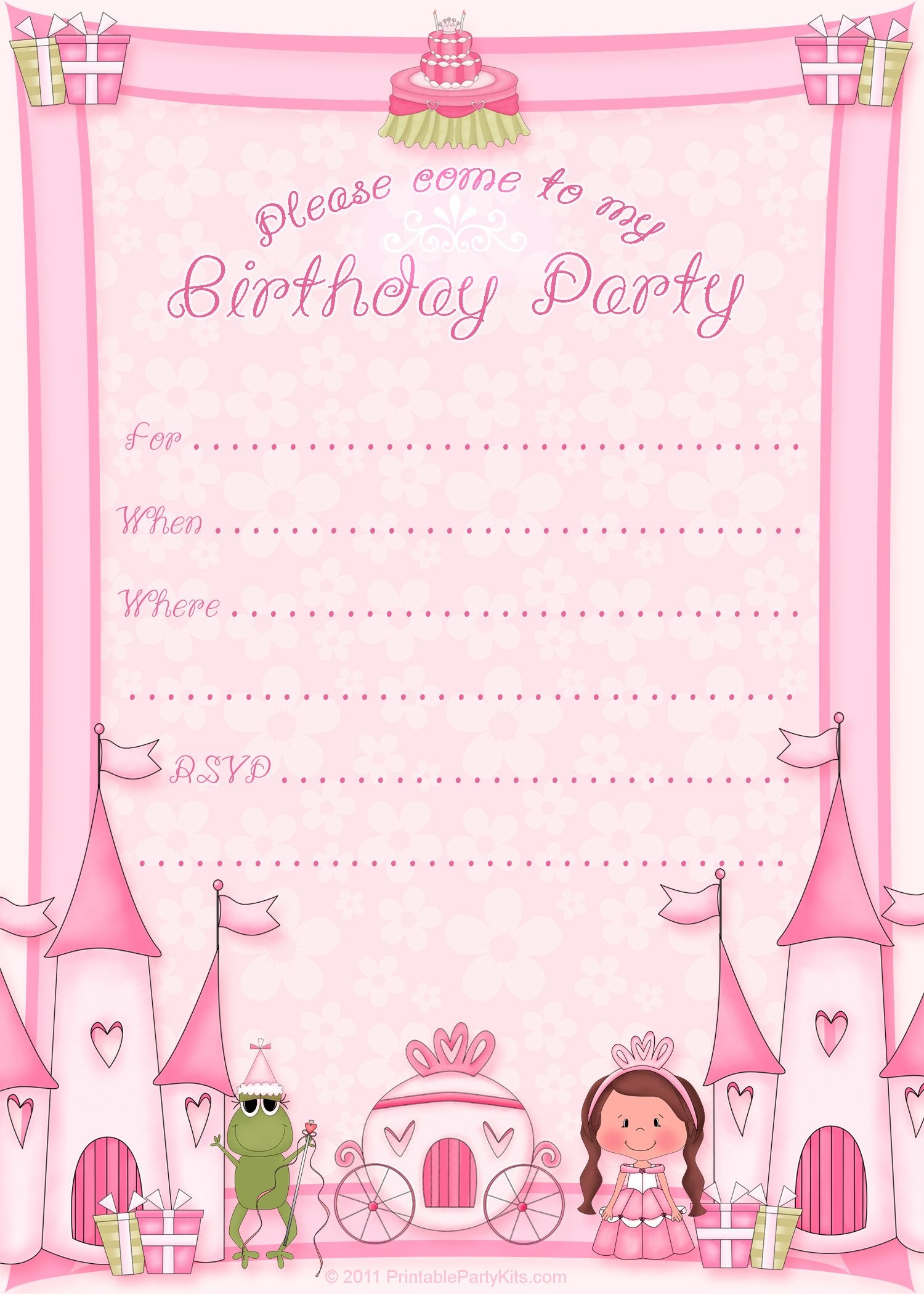 Free Printable Invitation. Pinned For Kidfolio, The Parenting Mobile - Free Printable Birthday Invitation Cards Templates
