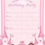 Free Printable Invitation. Pinned For Kidfolio, The Parenting Mobile   Free Printable Princess Invitations