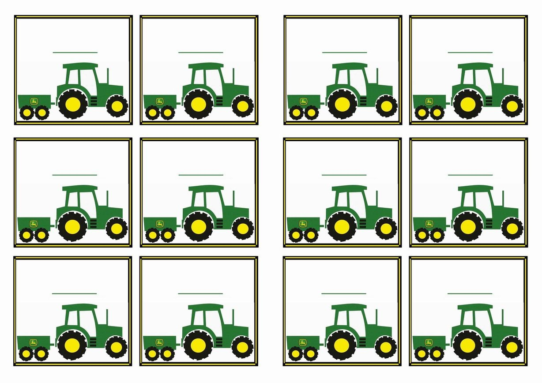 Free Printable John Deer Tractor Themed Name Tags | Themed Name Tags - Free Printable John Deere Birthday Invitations