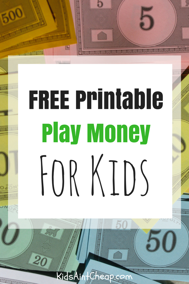 Free Printable Kids Money For Download | Kids Ain't Cheap - Free Printable Play Checks