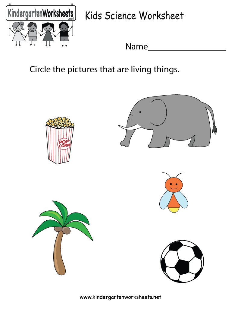 Free Printable Kids Science Worksheet For Kindergarten - Free Printable Worksheets For Kids Science