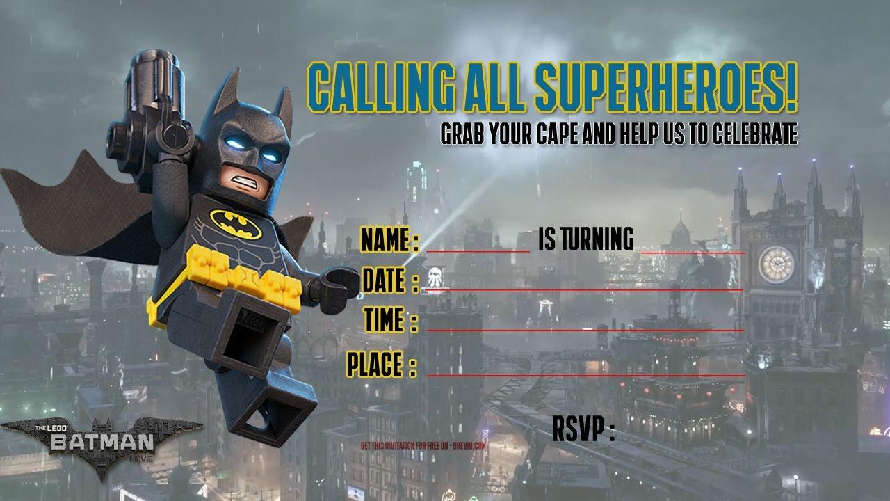 Free Printable Lego Batman The Movie Invitation | Free Printable - Lego Batman Invitations Free Printable