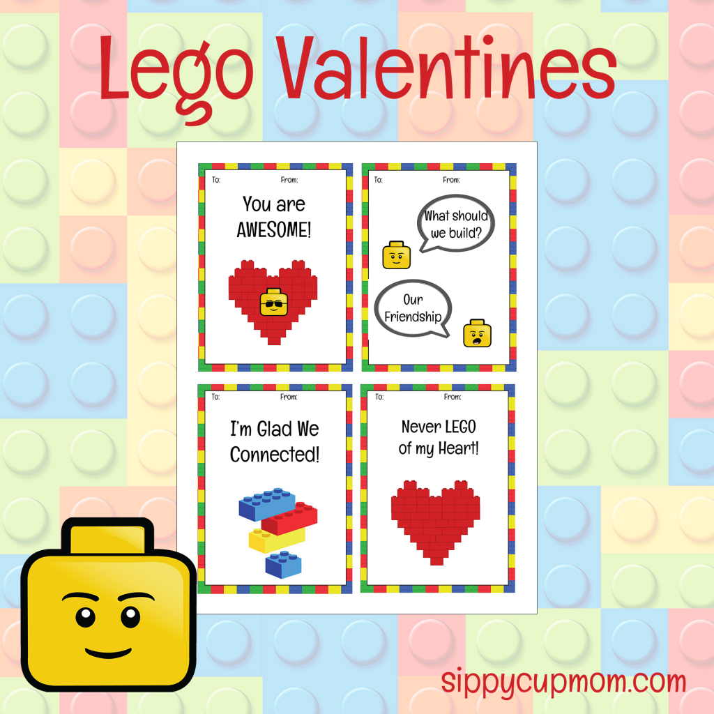 Free Printable Lego Valentine's Day Cards - Sippy Cup Mom - Free Printable Valentines Day Cards For Mom And Dad