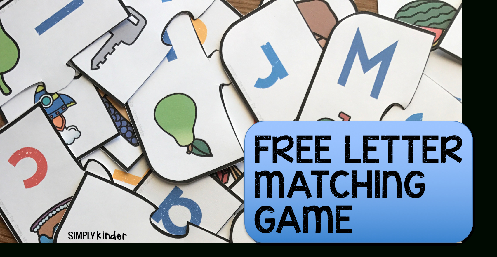 Free Printable Letter Matching Game - Simply Kinder - Free Printable Alphabet Games