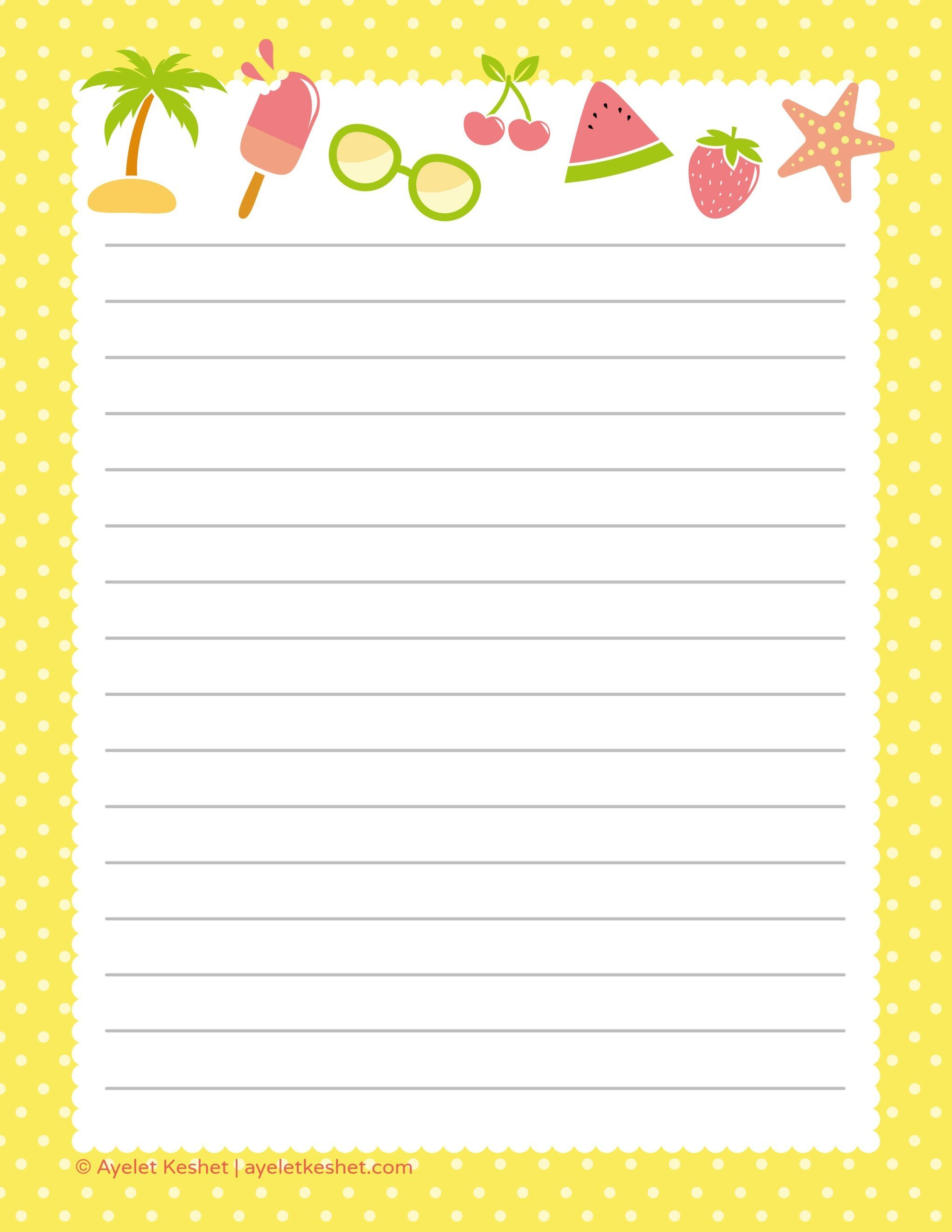 Free Printable Letter Paper   Printables To Go   Free Printable - Free Printable Stationary