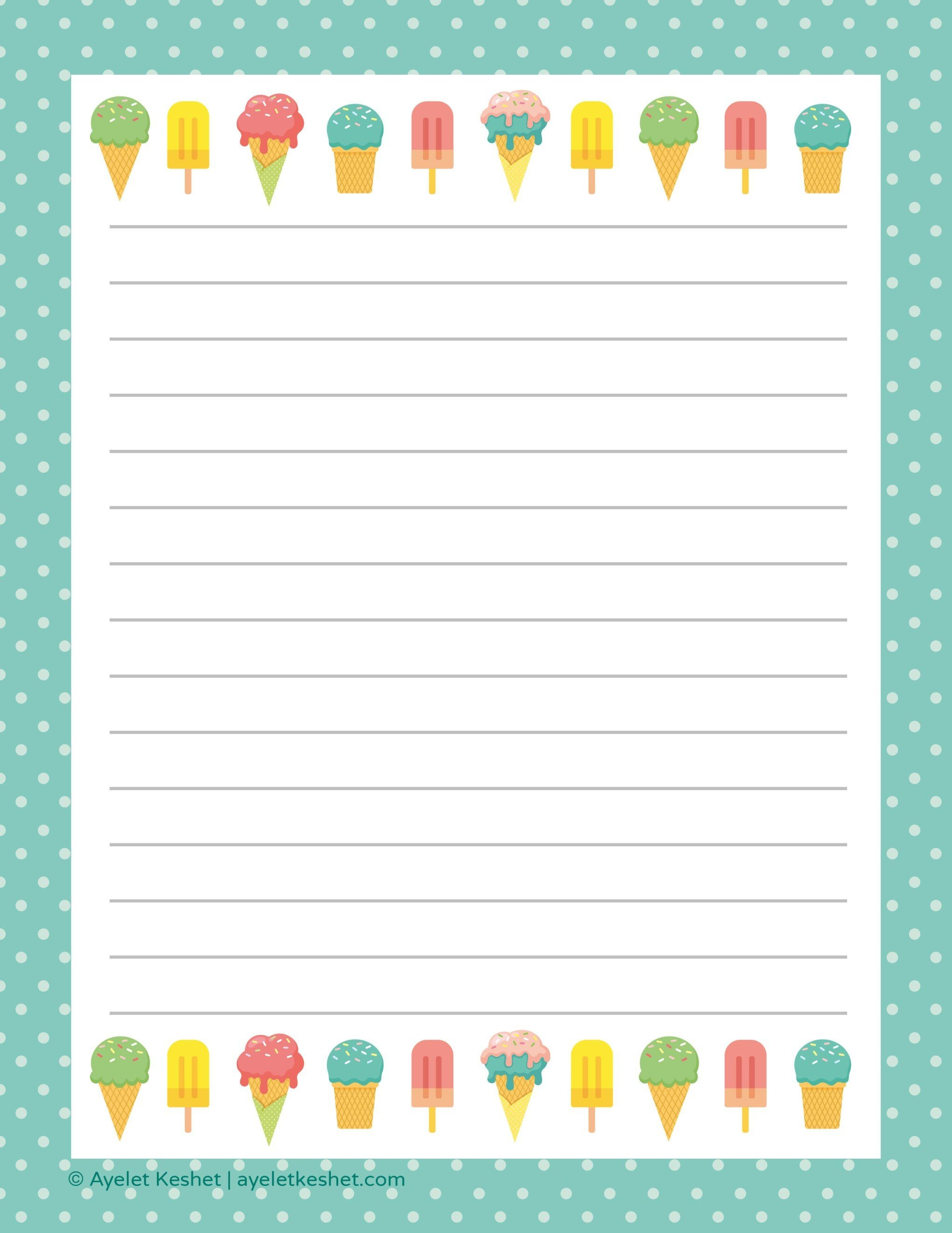 Free Printable Letter Paper | Printables To Go | Free Printable - Free Printable Stationery