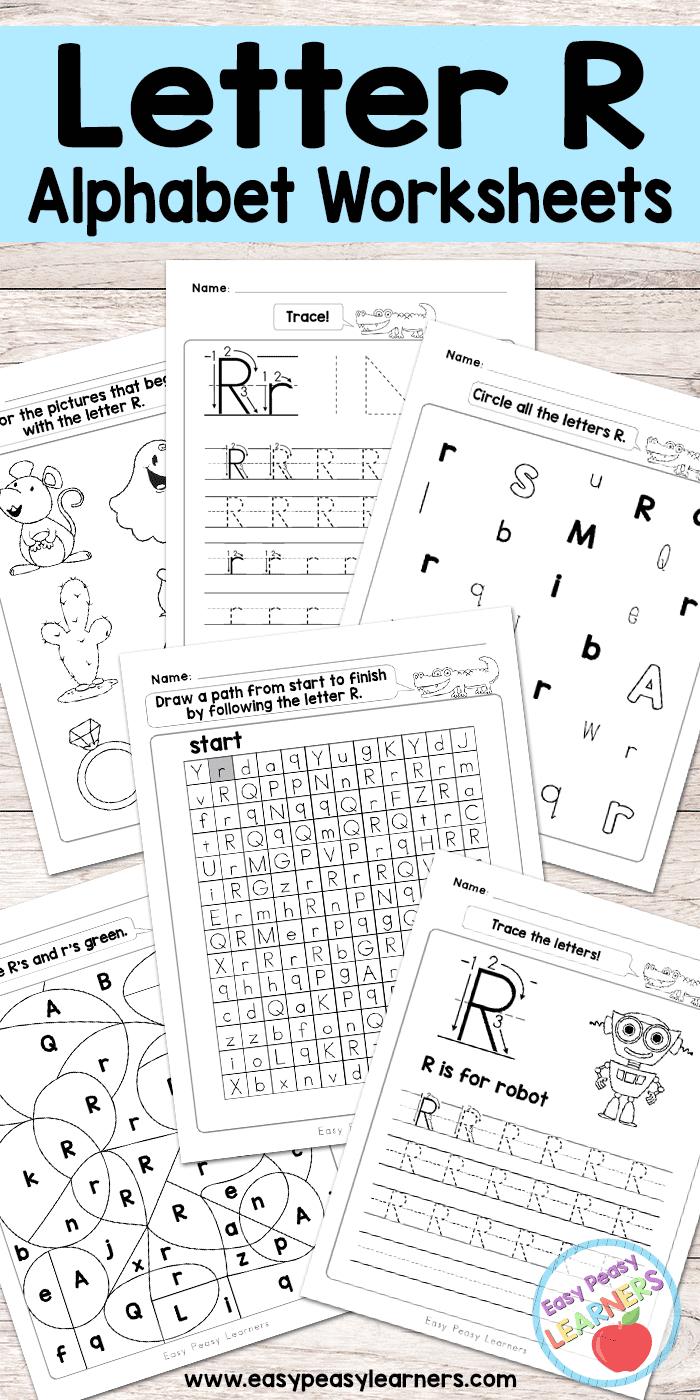 Free Printable Letter R Worksheets - Alphabet Worksheets Series - Free Printable Preschool Worksheets For The Letter R