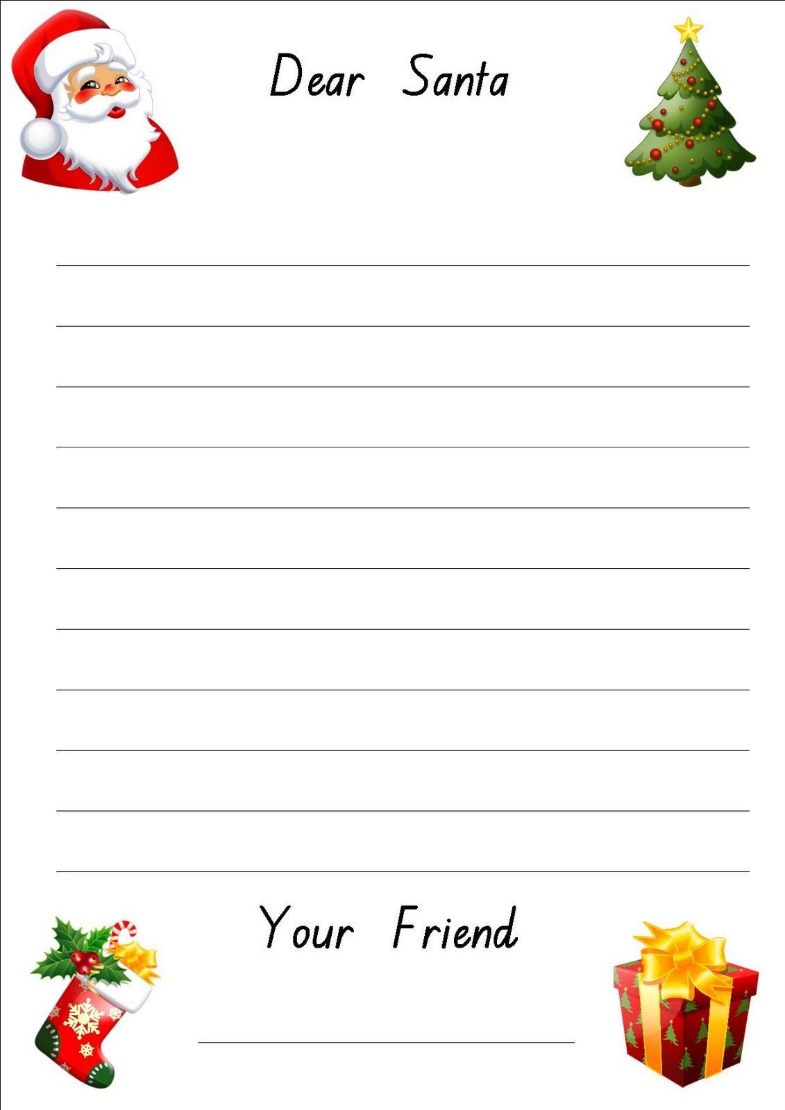 Free Printable: Letter To Santa Paper - Free Printable Santa Paper