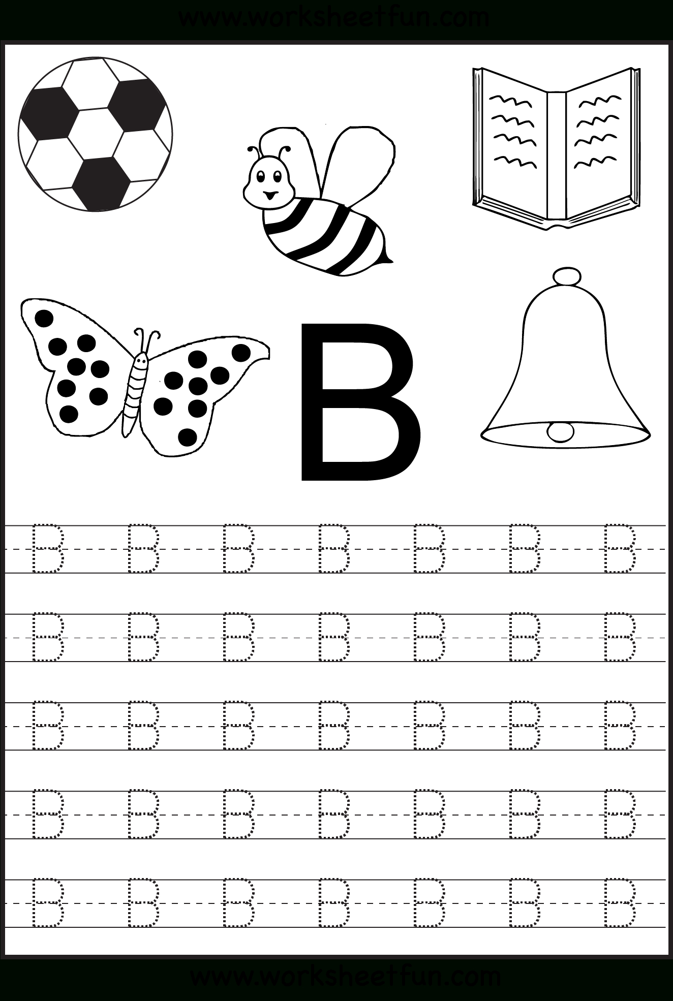 Free Printable Letter Tracing Worksheets For Kindergarten – 26 - Free Printable Traceable Letters