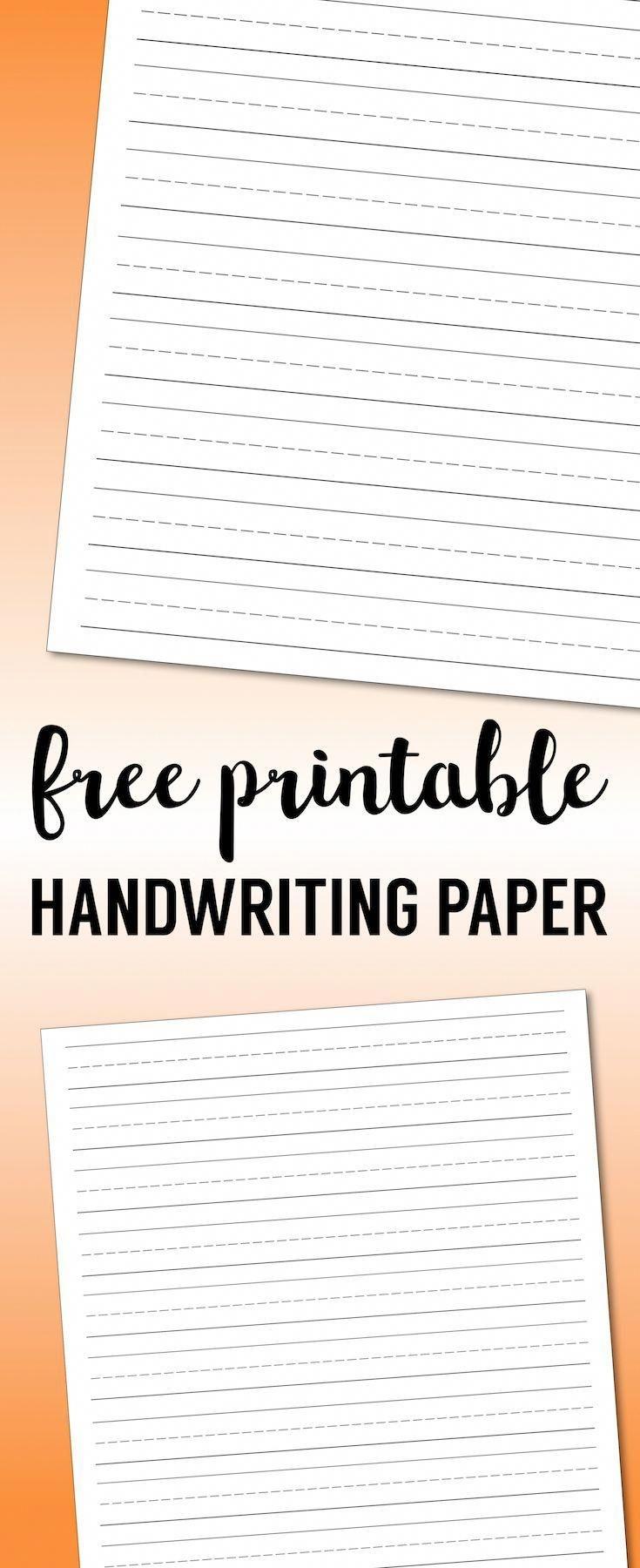 Free Printable Lined Paper Handwriting Paper Template. Kindergarten - Free Printable Blank Handwriting Worksheets