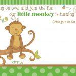 Free Printable Little Monkey Birthday Invitation   Free Printable   Free Printable Monkey Birthday Party Invitations