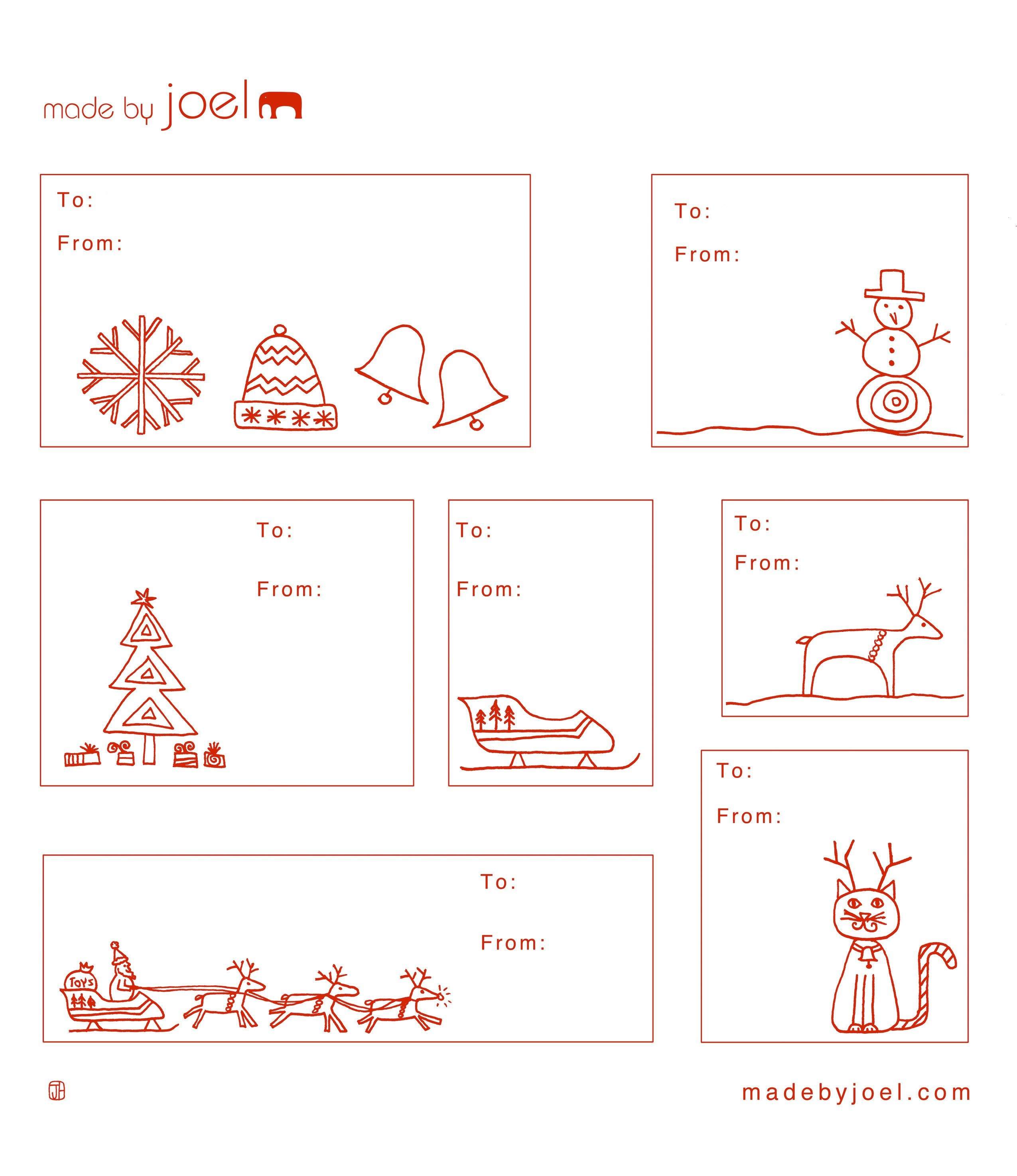 Free Printable: Madejoel » Holiday Gift Tag Templates - Free Printable Editable Christmas Gift Tags