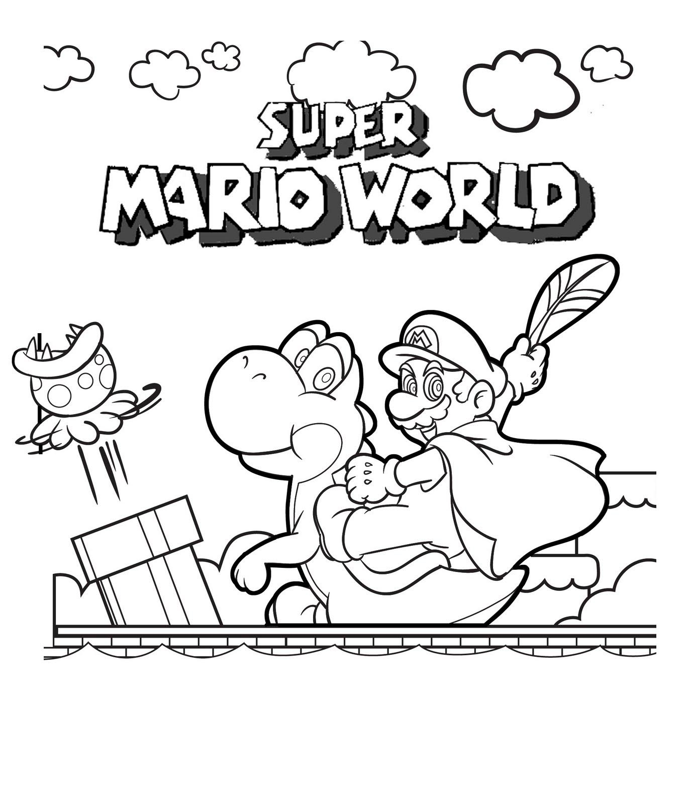 Free Printable Mario Coloring Pages For Kids - Mario Coloring Pages Free Printable