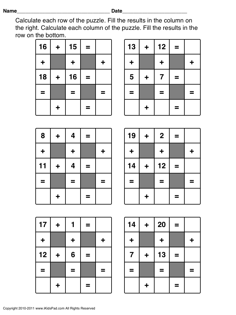 Free Printable Math Games For First Grade Students | Clasa 0 | Maths - Free Printable Math Puzzles