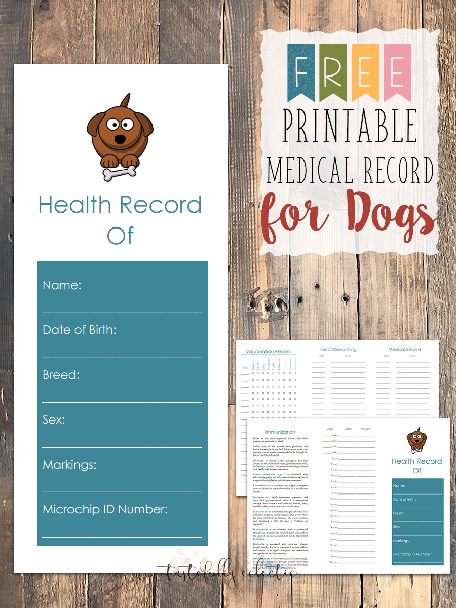 Free Printable Medical Record For Dogs | Craftiness | Whelping - Free Printable Dog Shot Records