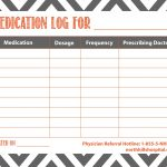 Free Printable: Medication Log | Planner Ideas & Printables   Free Printable Medication Log