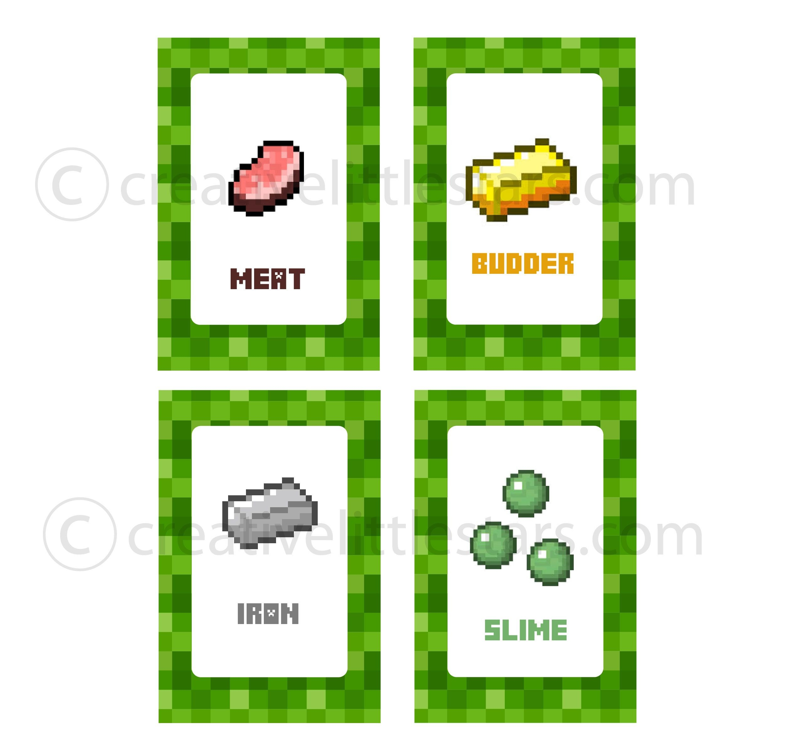 Free Printable Minecraft Food Tent Labels - Bing Images | Minecraft - Free Printable Minecraft Food Labels