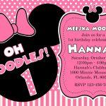Free Printable Minnie Mouse 1St Birthday Invitations — Birthday   Free Printable Minnie Mouse Party Invitations