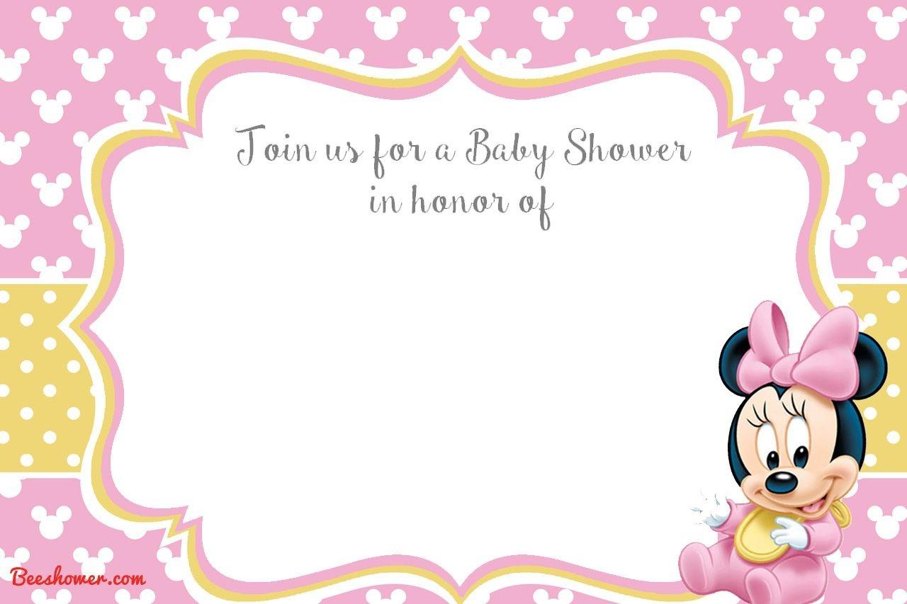 Free Printable Minnie Mouse 1St Invitation | Talli | Mickey Mouse - Free Printable Minnie Mouse Baby Shower Invitations
