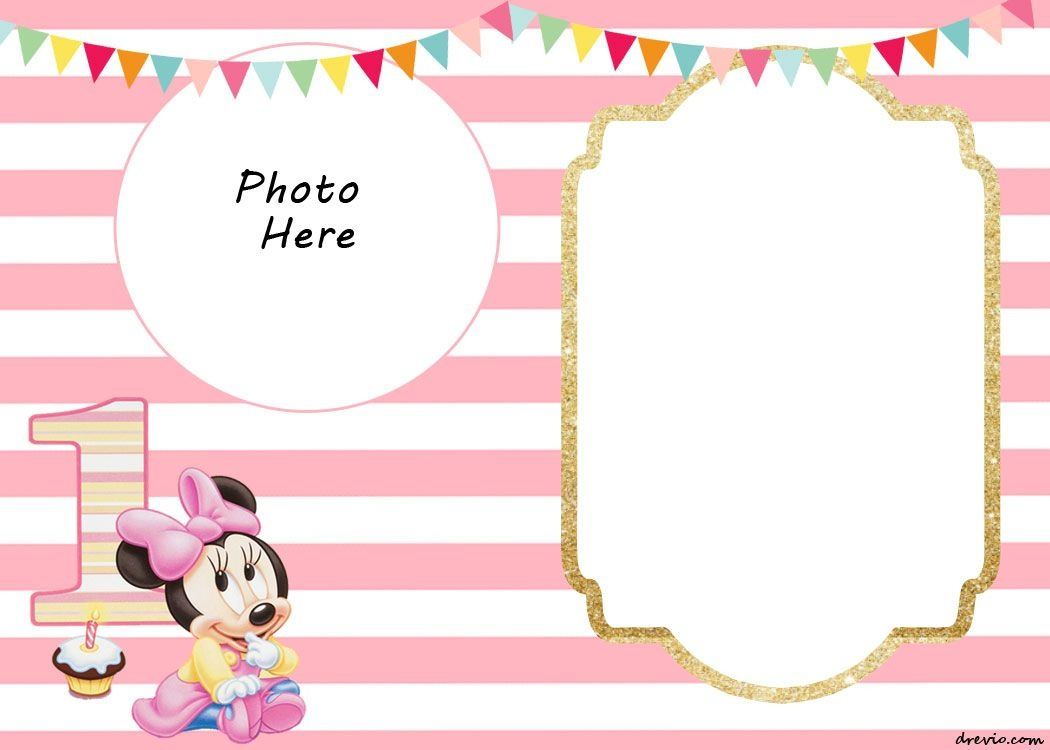 Free Printable Minnie Mouse 1St Invitation Templates | Miney Mouse - Free Printable Baby Mickey Mouse Birthday Invitations