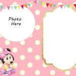 Free Printable Minnie Mouse 1St Invitation Templates   Miney Mouse   Free Printable Minnie Mouse Party Invitations