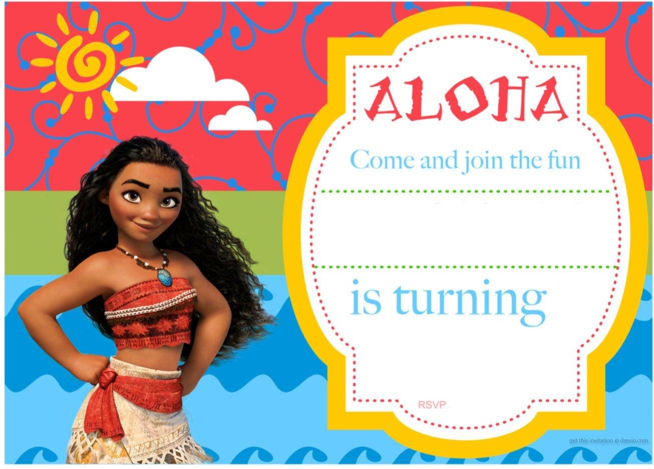 Free Printable Moana Birthday Invitation And Party | Free - Free Printable Moana Birthday Cards