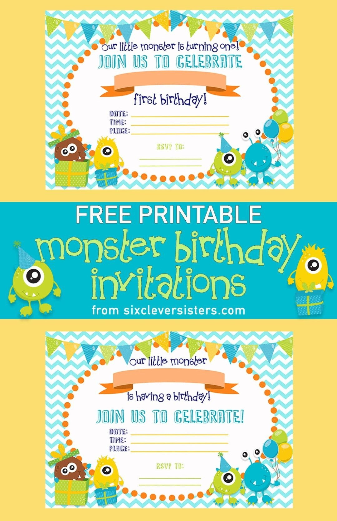 Free Printable Monster Birthday Invitations | Birthday One | Pinterest - Free Printable Birthday Invitations Pinterest