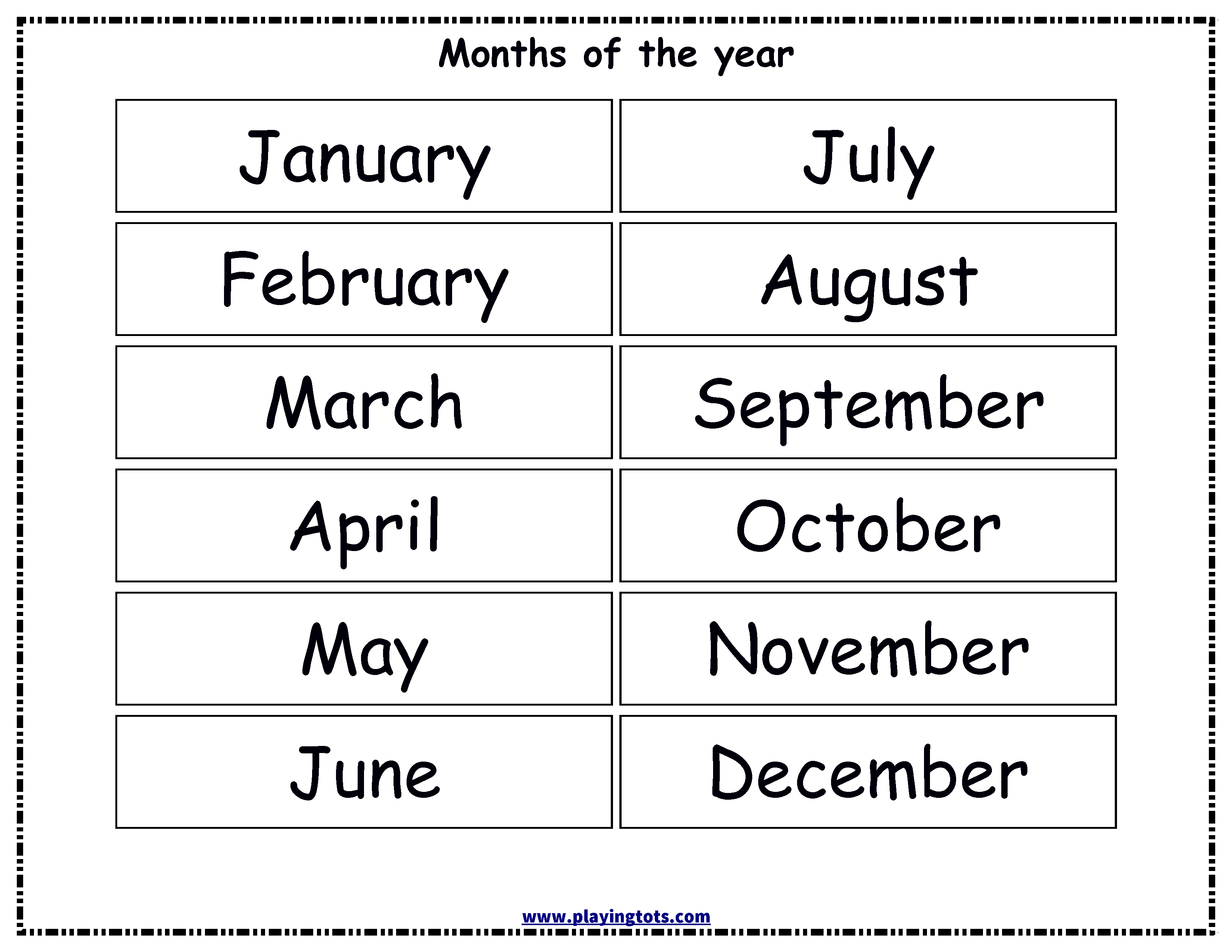 Free Printable Months Of The Year Chart   Alivia Learning Folder - Free Printable Months Of The Year Chart