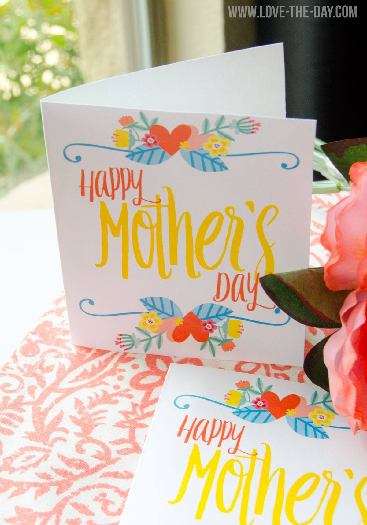 Free Printable Mother's Day Cardlindi Haws Of Love The Day - Free Printable Mothers Day Cards No Download