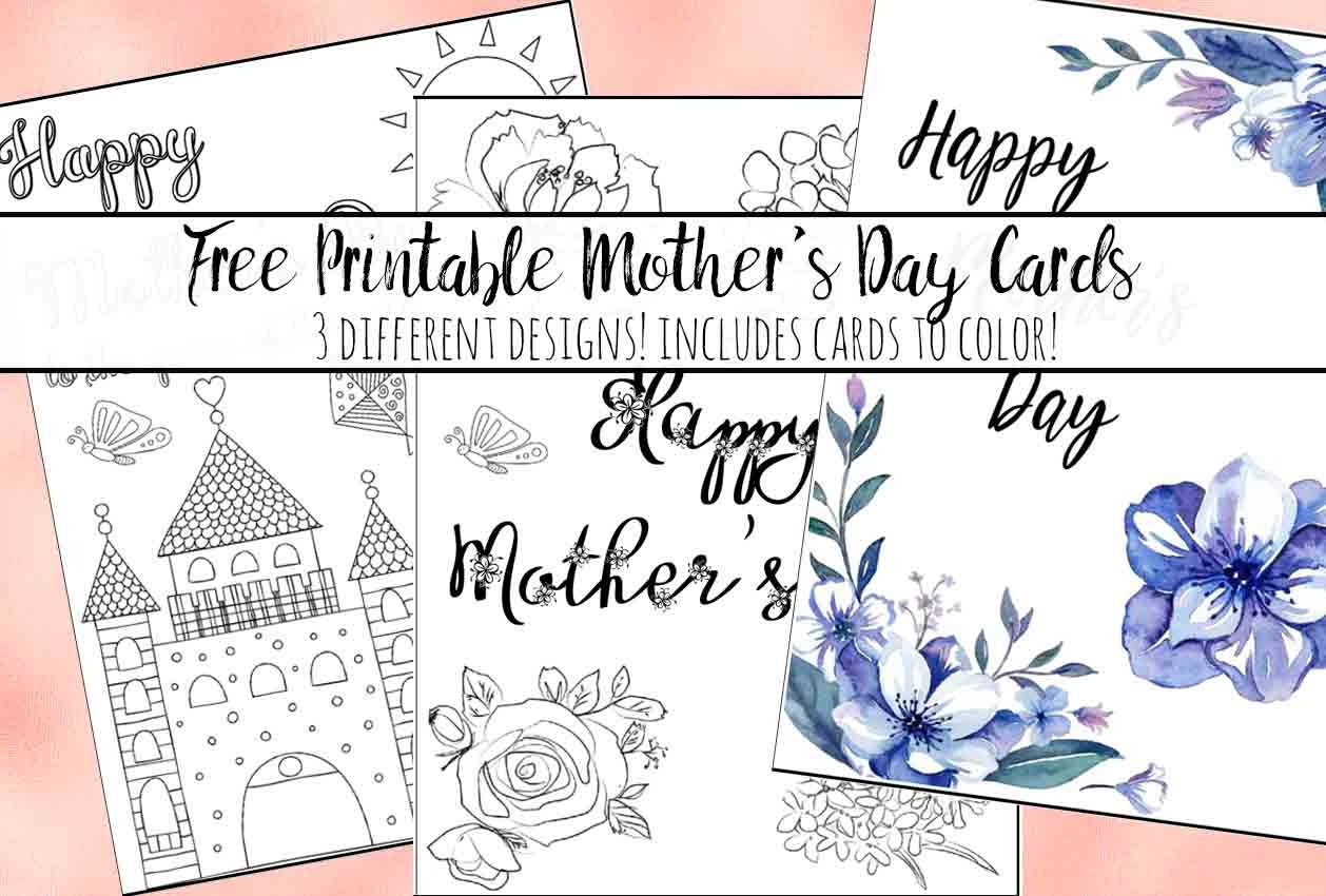 Free Printable Mother's Day Cards (Some Of Them You Can Color!) - Free Printable Mothers Day Cards No Download