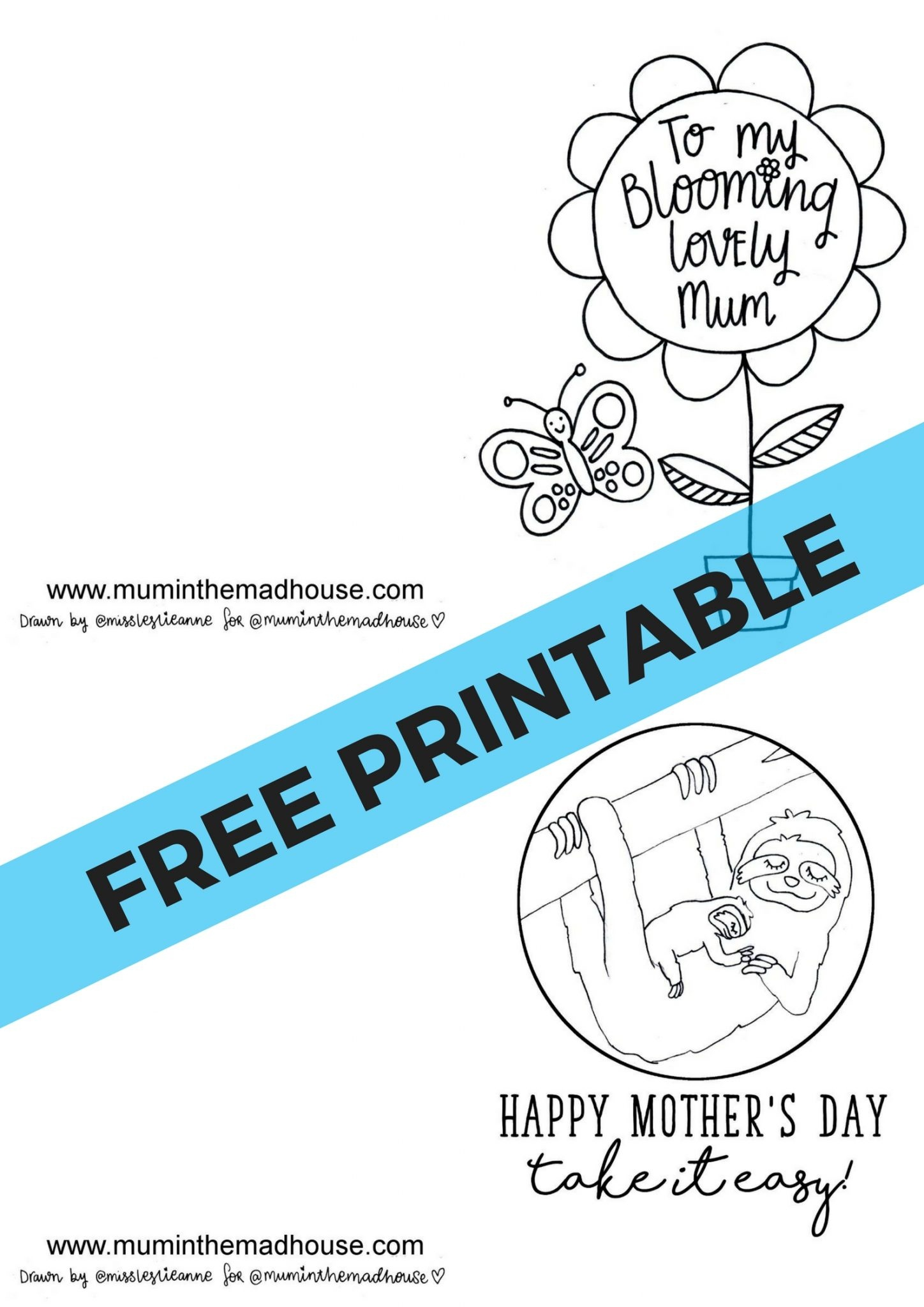 Free Printable Mother's Day Cards To Colour - Mum In The Madhouse - Free Printable Mothers Day Cards To Color