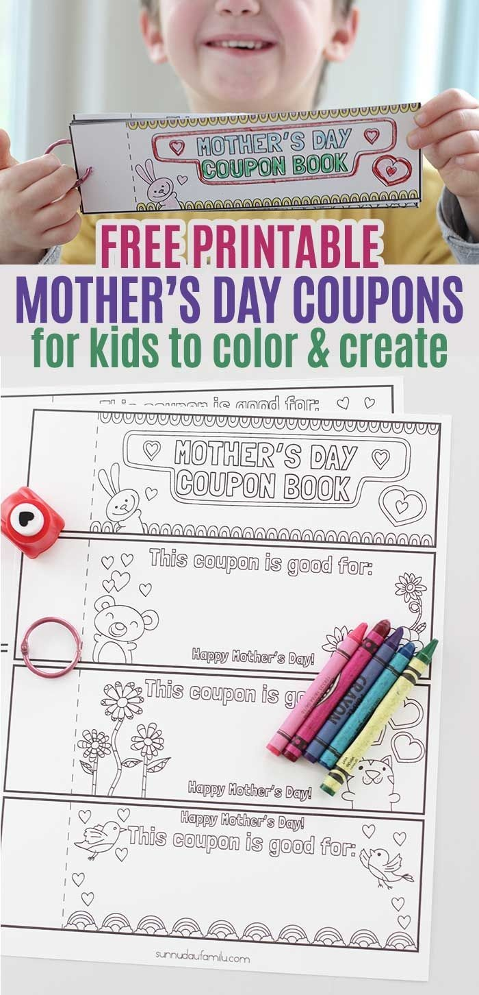 Free Printable Mothers Day Coupons For Kids To Color And Create - Free Printable Personalized Children's Books