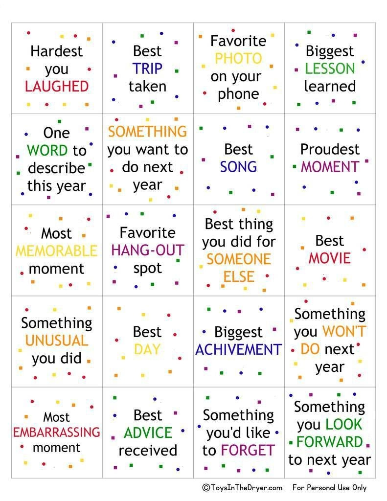 Free Printable New Year's Game | Party Ideas | New Year's Games, New - Free Printable Games For Adults