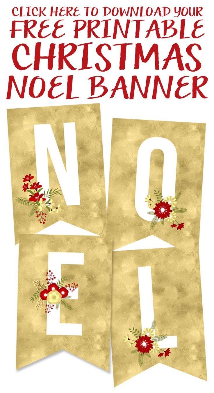 Free Printable Noel Banner   Best Of Pinterest   Christmas, Free - Free Printable Christmas Banner