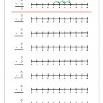 Free Printable Number Addition Worksheets (1 10) For Kindergarten   Free Printable Number Line For Kids
