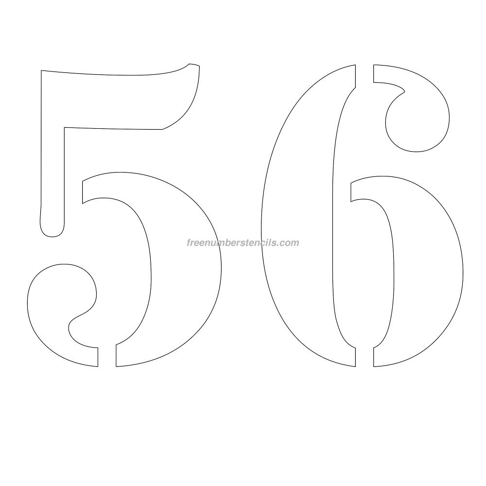 Free Printable Number Stencils For Painting : Freenumberstencils - Free Printable 4 Inch Number Stencils