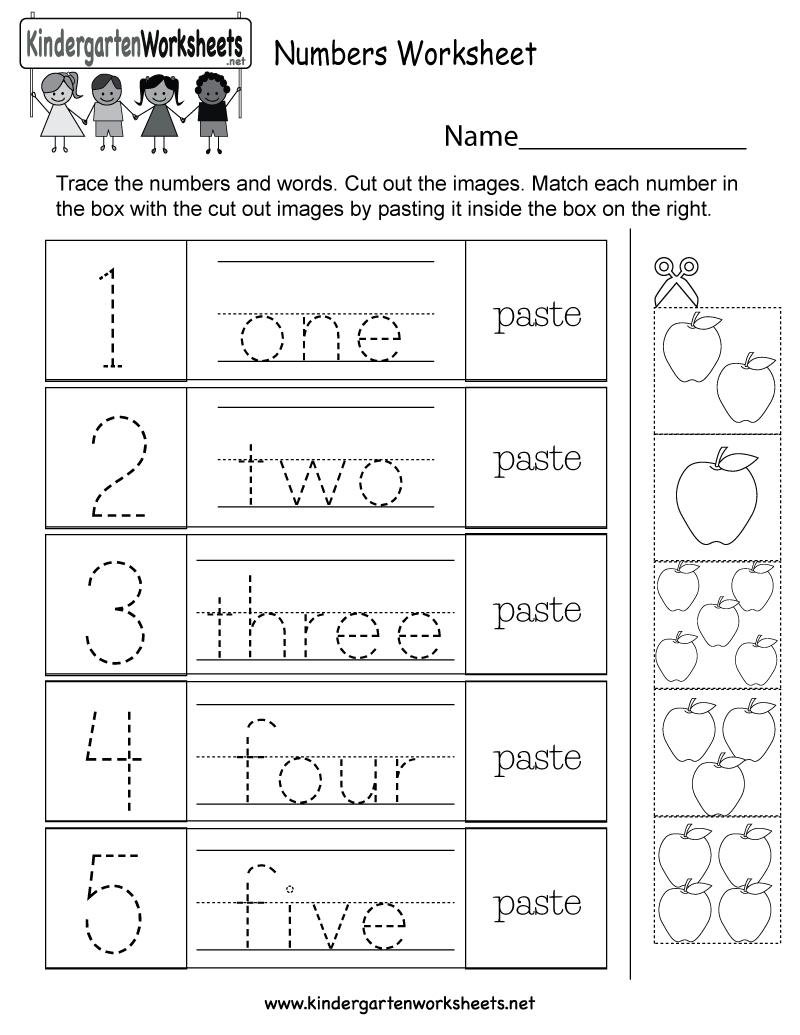 Free Printable Numbers Worksheet For Kindergarten - Free Printable Number Worksheets For Kindergarten