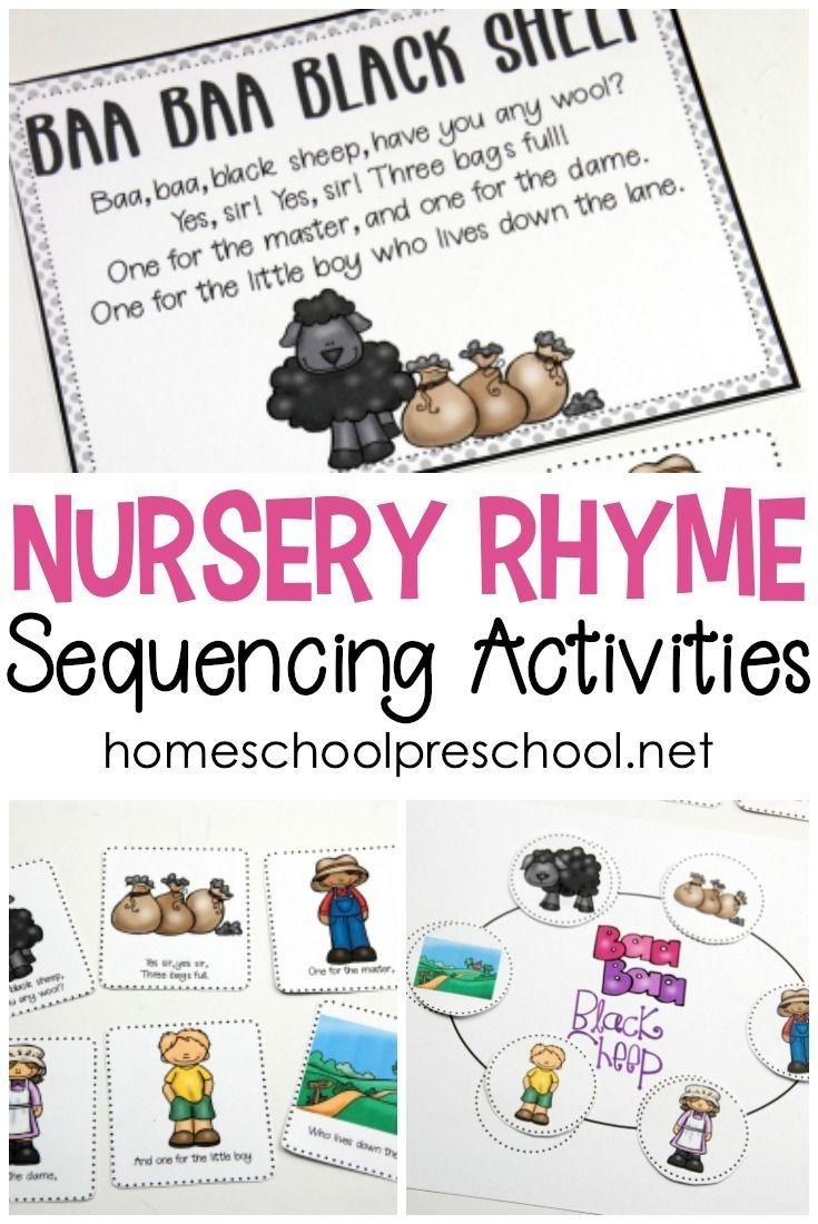 Free Printable Nursery Rhyme Sequencing Cards | All Things - Free Printable Nursery Rhymes