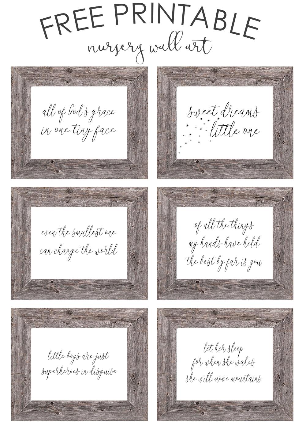 Free Printable Nursery Wall Art - The Girl Creative - Free Printable Wall Art For Bathroom