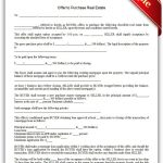 Free Printable Offer To Purchase Real Estate Legal Forms | Free   Free Printable Real Estate Forms