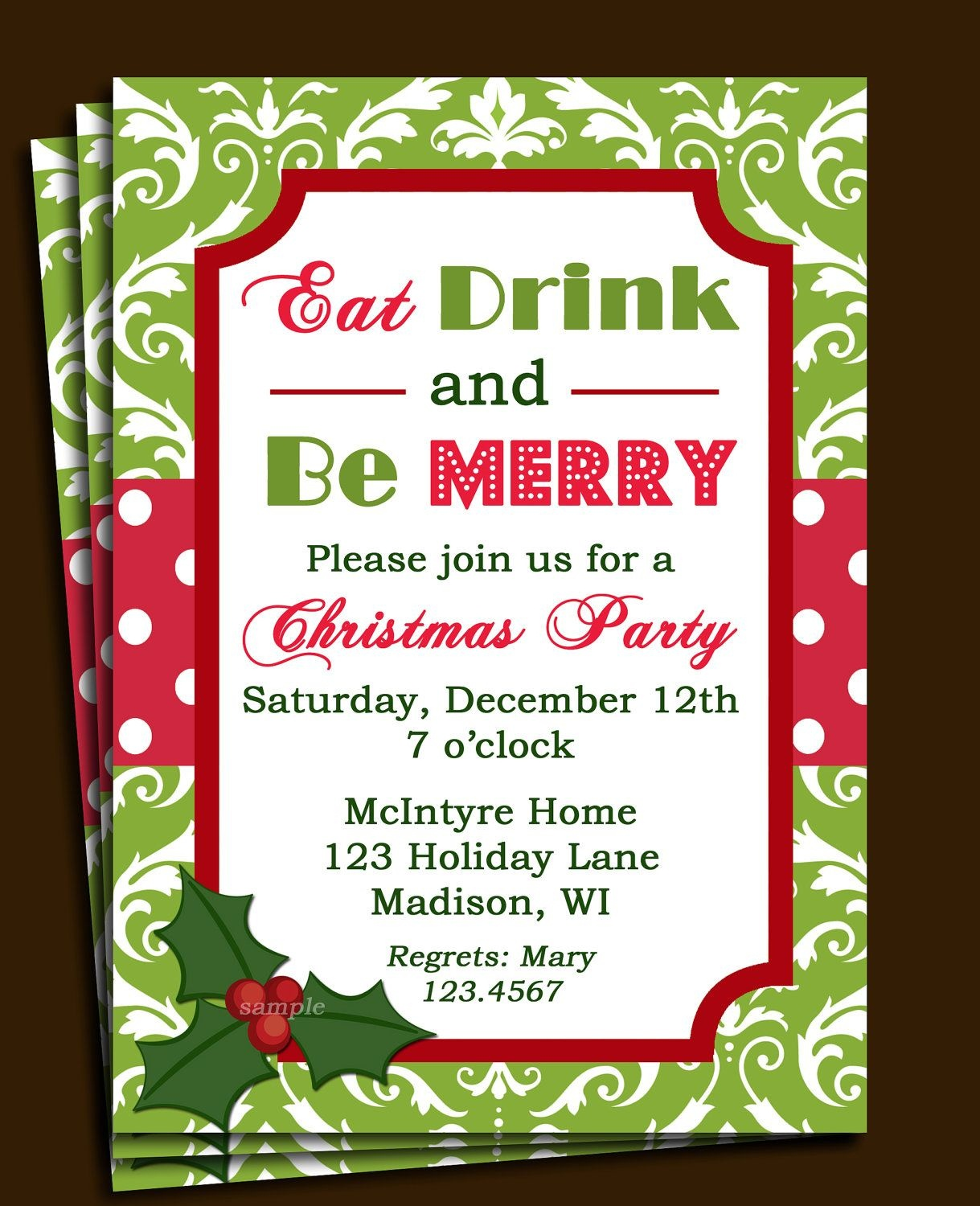 Free Printable Office Christmas Party Invitations | Party Stuff - Holiday Invitations Free Printable
