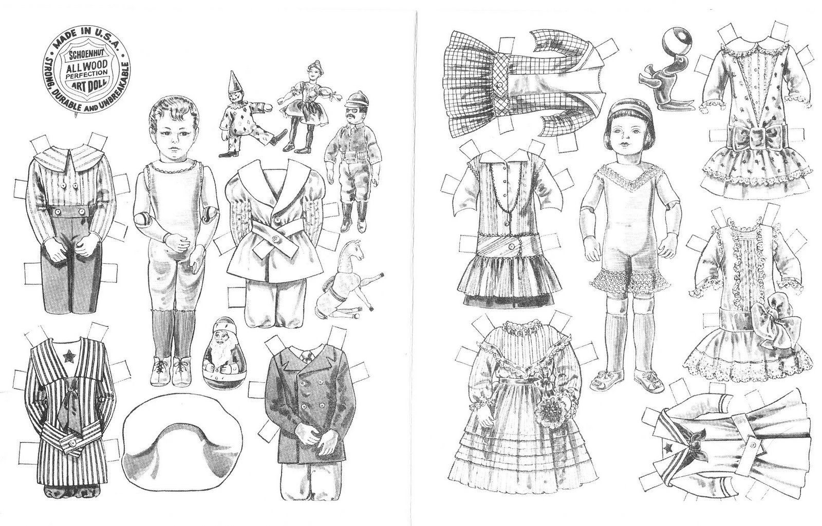 Free Printable Paper Doll Coloring Pages For Kids | Paper Doll - Free Printable Paper Doll Coloring Pages