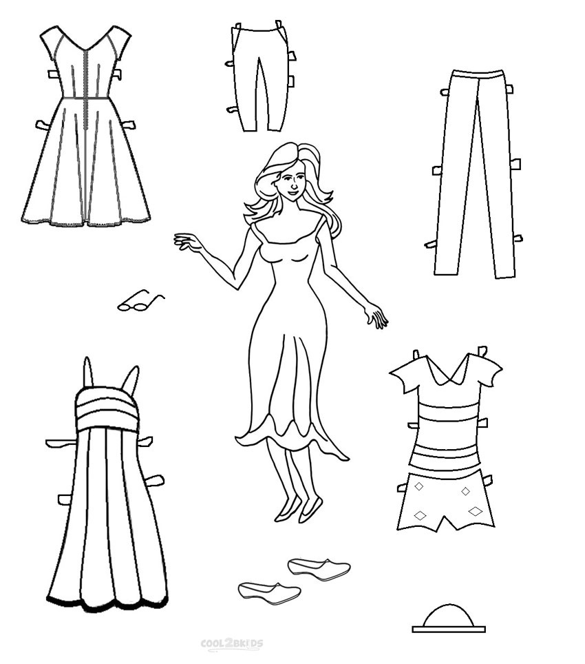 Free Printable Paper Doll Templates | Cool2Bkids - Printable Paper Dolls To Color Free