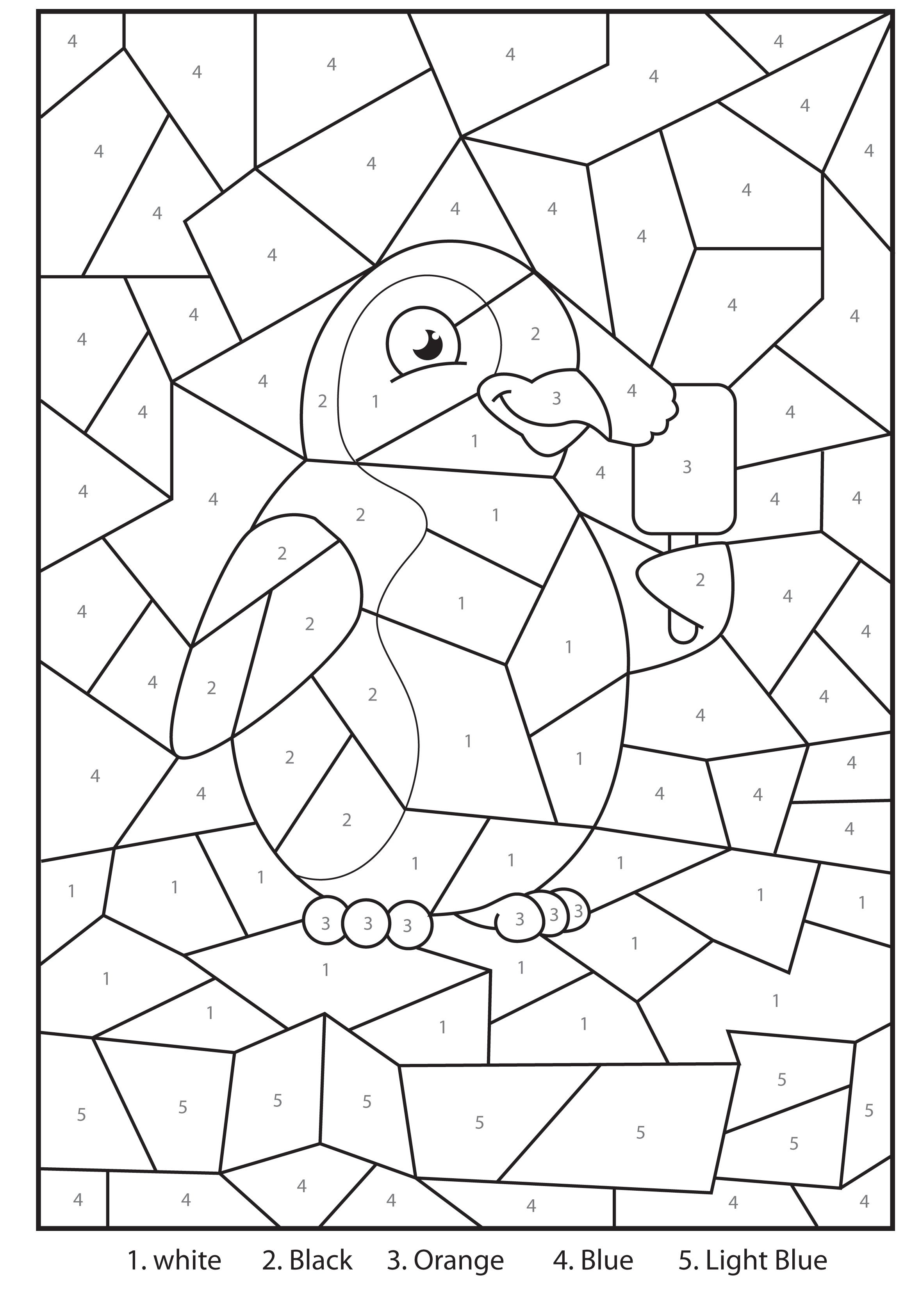 Free Printable Penguin At The Zoo Colournumbers Activity For - Free Printable Activities For Kids