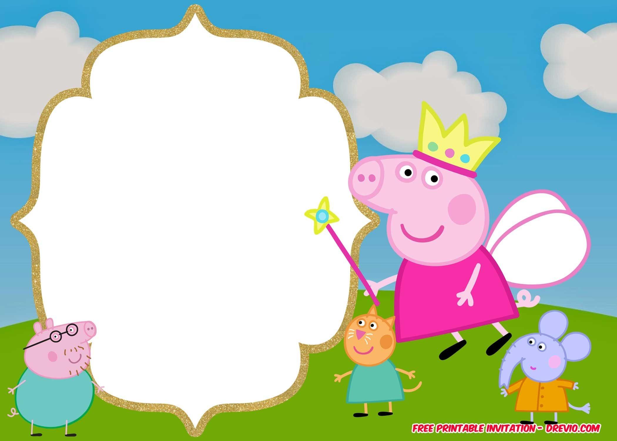 Free Printable Peppa Pig Invitation | Vanida Elizabeth Diego - Peppa Pig Character Free Printable Images
