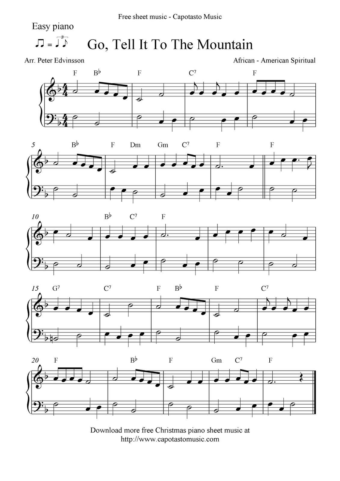 Free Printable Piano Sheet Music | Free Sheet Music Scores: Easy - Christmas Music For Piano Free Printable
