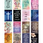 Free Printable Planner Stickers   Bible Scripture   Happy Planner   Free Printable Bible Verse Labels