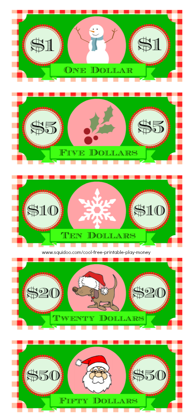 Free Printable Play Money Kids Will Love | Elf On A Shelf - Christmas Money Wallets Free Printable