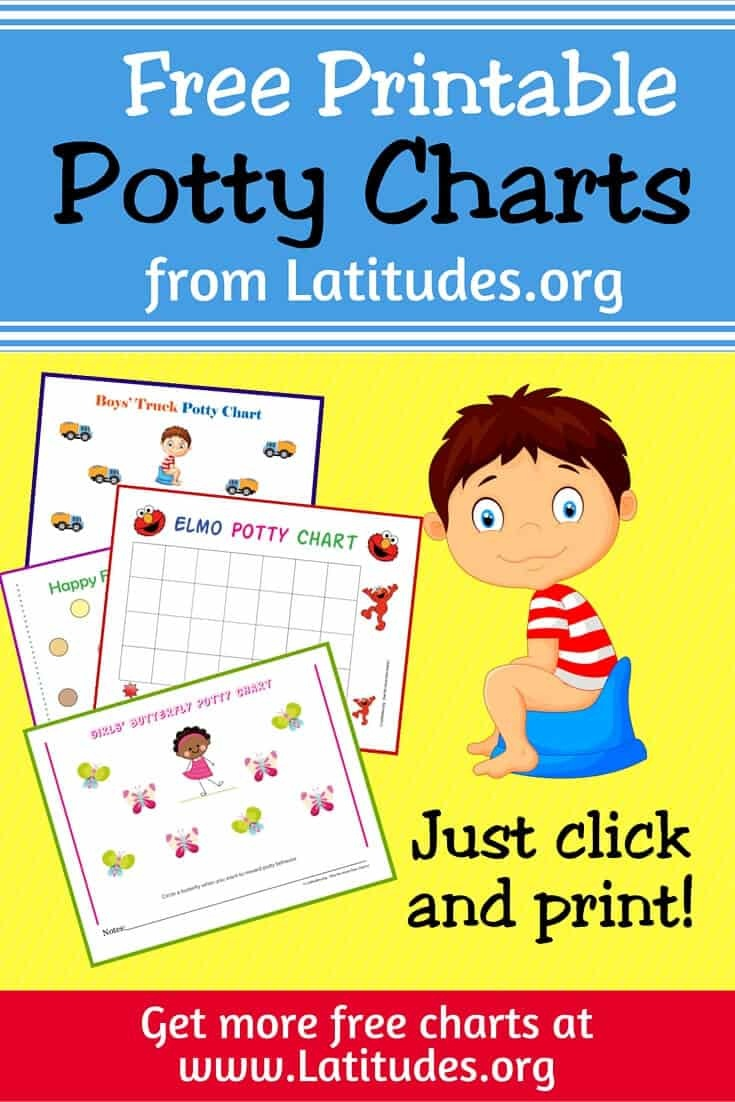 Free Printable Potty Training Charts For Boys And Girls | Acn Latitudes - Free Printable Potty Training Charts